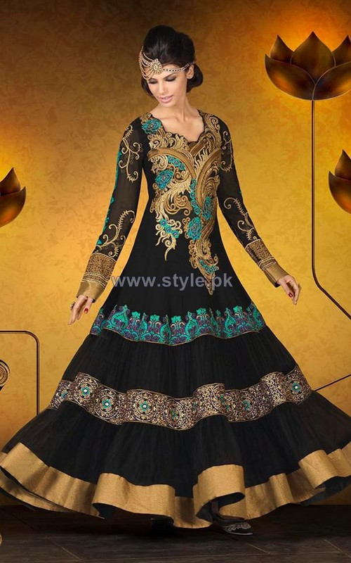 Beautiful Anarkali Dresses Designs 2014 For Eid 7