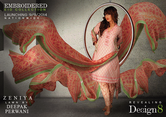 Deepak Perwani Eid Ul Azha Dresses 2014 For Women 005