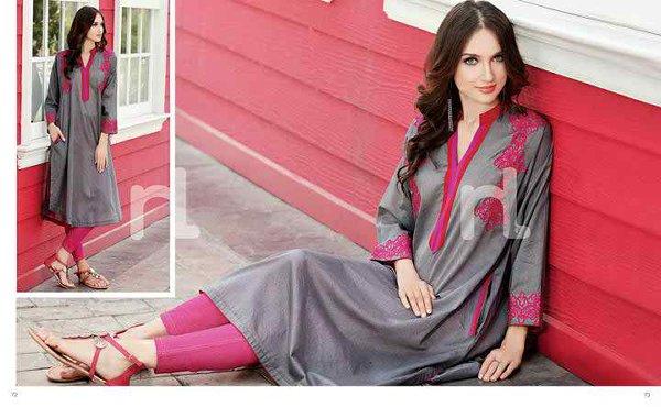 Fashion Of Pret Wear Dresses 2014 For Women
