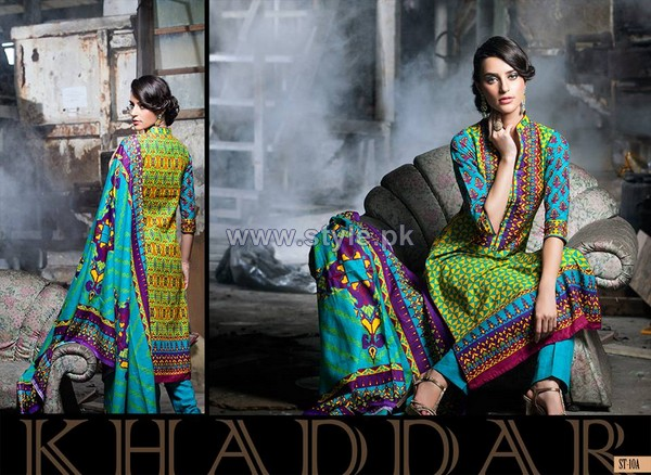 Shariq Textiles Khaddar Prints 2014 For Women 8
