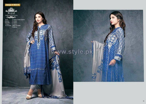 Ittehad Royal Embroidered Dresses 2014-2015 For Winter 8