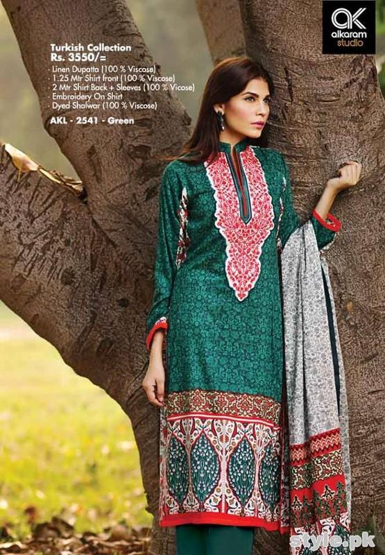 Al-Karam Winter Dresses 2014-2015 Volume 2 14