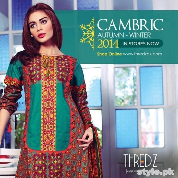 Thredz Cambric Dresses 2014 For Winter 2