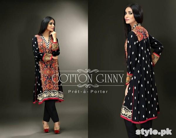 Cotton Ginny Digital Print Dresses 2014 For Winter 5