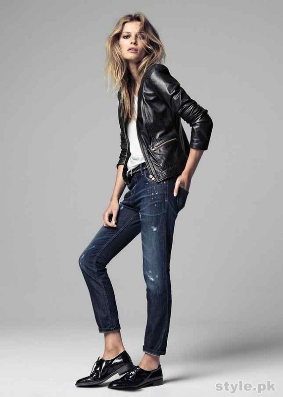 Latest Leather Jackets Trends 2014-15 For Women 4