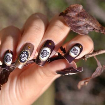 Latest Nail Art Designs 2014 For New Year