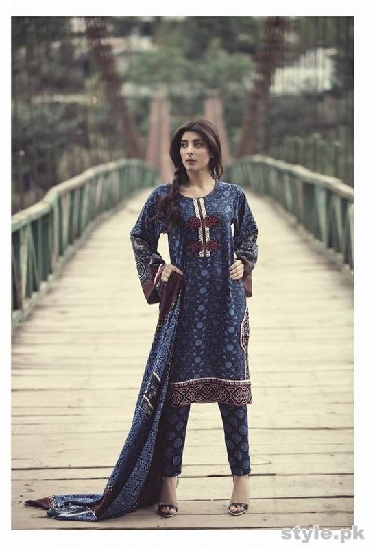 Maria B Linen Dresses 2014 For Winter 8