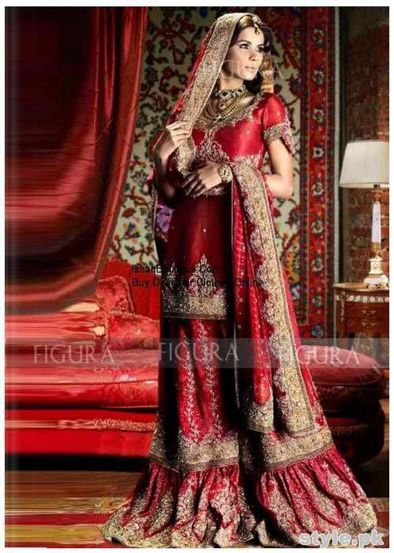 Latest Bridal Gharara Designs 2017 In Pakistan 10