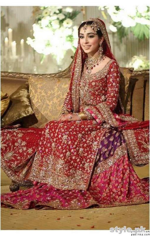 Latest Bridal Gharara Designs 2017 In Pakistan 8