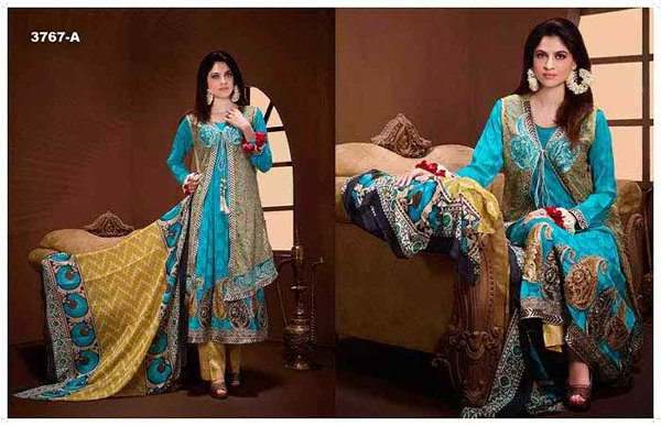 Tawakkal Fabrics Winter Dresses 2015 Volume 2 For Women 0013
