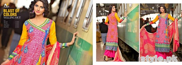 Ajwa Textile Charismatic Collection 2015 For Summer 8