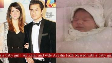 ali zafar new born baby