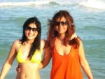 ayesha omer and maria wasti on beach