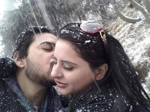 Fatima Effendi and Kanwar Arsalan Enjoying Snowfall In Murree