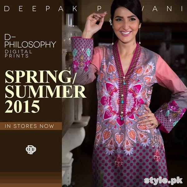 Deepak Perwani Spring Summer Dresses 2015 For Girls 5