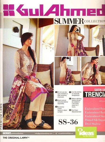 Gul Ahmed Lawn Collection 2015 Volume 1 For Women 0019