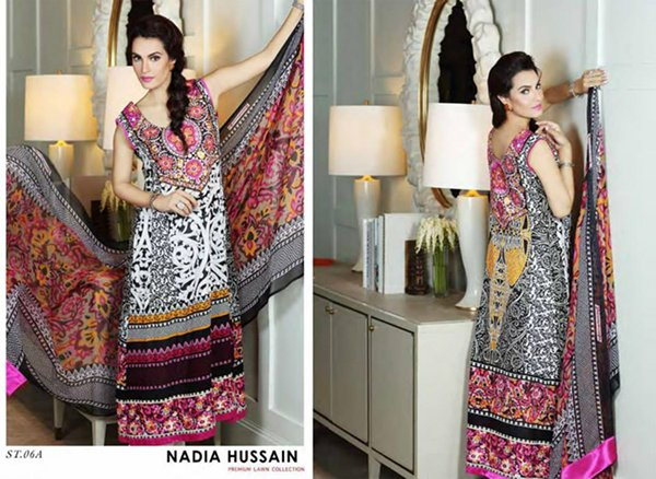 Nadia Hussain Lawn Collection 2015 By Shariq Textiles 0016