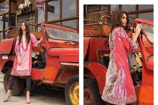 ZS Textile Embroidered Lawn Collection 2015 For Women 002
