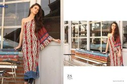 ZS Textile Embroidered Lawn Collection 2015 For Women 06