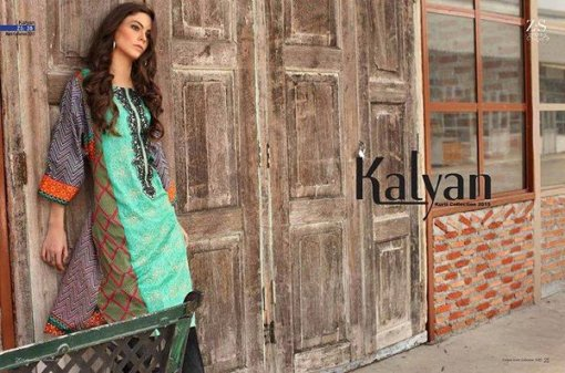 ZS Textile Embroidered Lawn Collection 2015 For Women0014