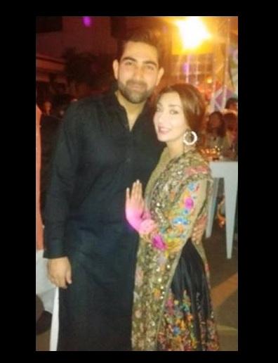 ayesha khan at party