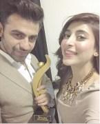 farhan saeed and urwa hocane at 3rd hum awards