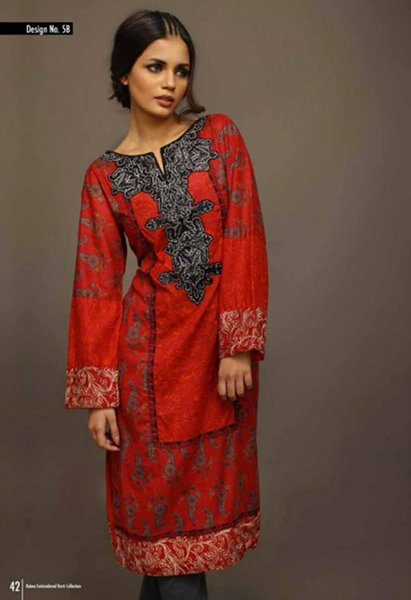 Shariq Textiles Rabea Embroidered Kurti Collection 2015 For Women003