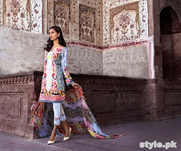 Asifa and Nabeel Lawn Dresses 2015 For Women 1