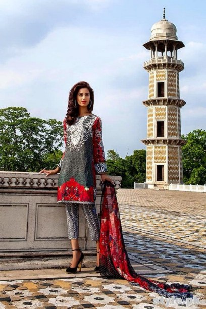 Asifa and Nabeel Lawn Dresses 2015 For Women 2