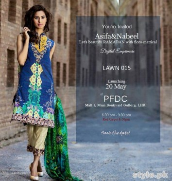 Asifa and Nabeel Lawn Dresses 2015 For Women 4