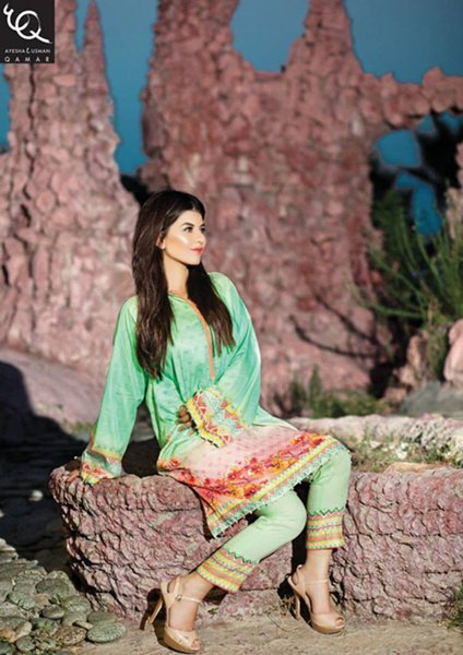 Ayesha And Usman Qamar Eid Collection 2015 For Women007