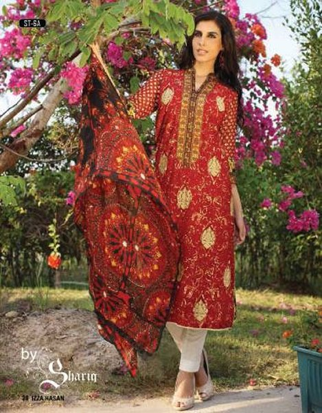 Izza Hassan Silk Collection 2015 By Shariq Textiles0010