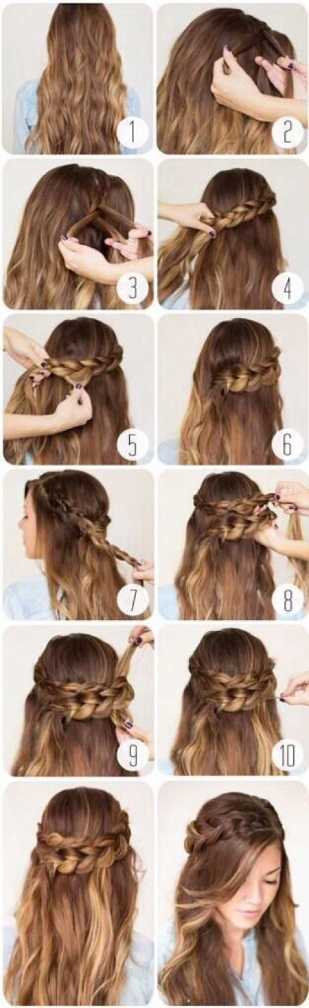 Romantic hairstyle for date tutorial