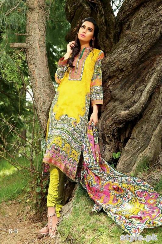 Farah Leghari Eid Dresses 2015 by Shariq Textiles 4