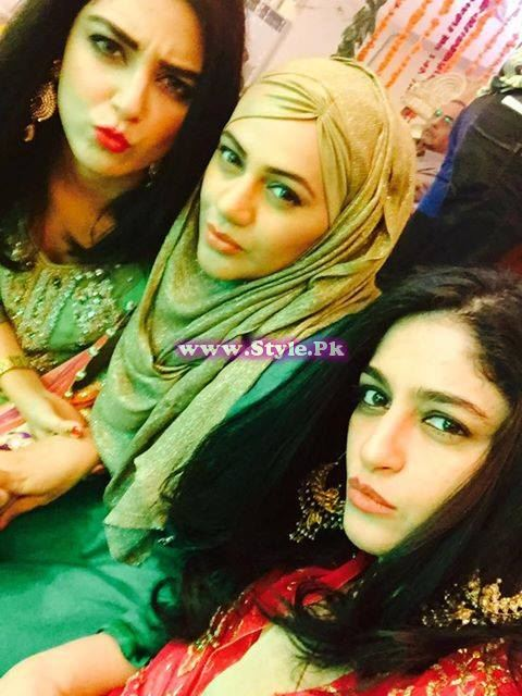 Maya ALi, Urooj Nasir and Nadia Jamil