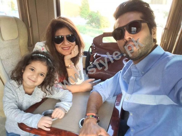 Pictures of Fahad Mustafa with his Family on Istanbul tour 6