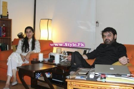 Shaista Lodhi on Welcome back party with Mubasher Lucman