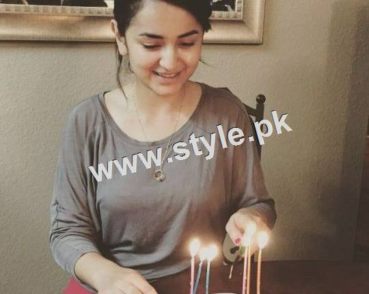 See Yumna Zaidi Celebrating her 26th birthday