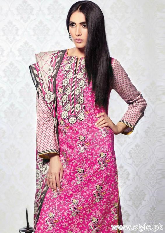 Al-Karam Midsummer Dresses 2015 For Women 1