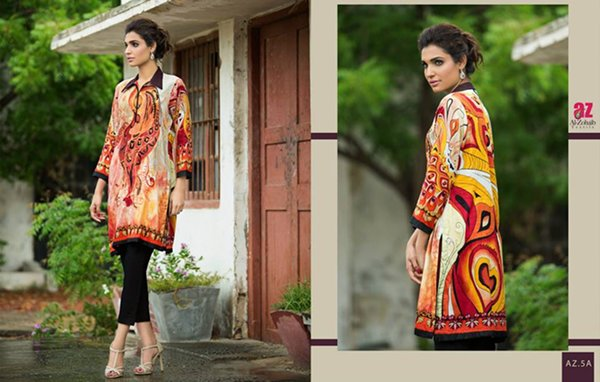 Al Zohaib Textile Tunic Collection 2015 For Women009
