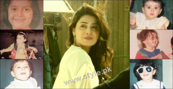 Childhood pictures of Ayeza Khan