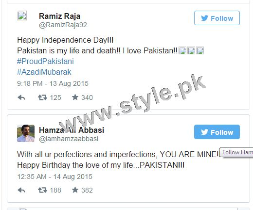 How Pakistani Celebrities wished Nation Happy Independence Day (1)