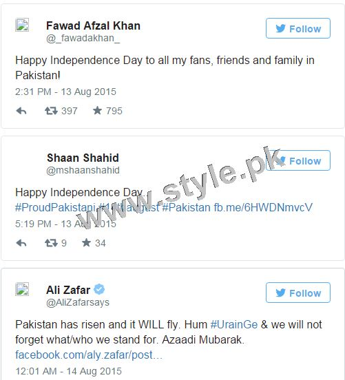 How Pakistani Celebrities wished Nation Happy Independence Day (6)