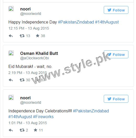 How Pakistani Celebrities wished Nation Happy Independence Day (7)