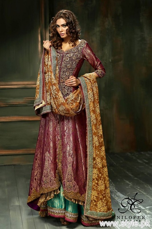 Meeras Bridal Wear Dresses 2015 By Nilofer Couture 4
