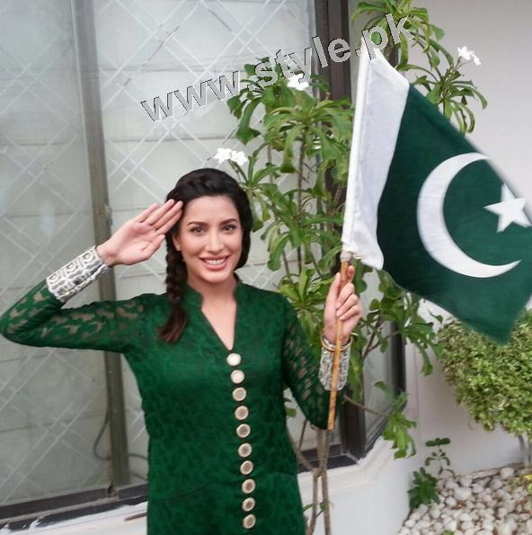 Pakistani Celebrities on Independence Day 2015 (28)