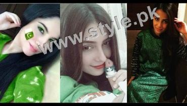 SEe Pakistani Celebrities on Independence Day 2015
