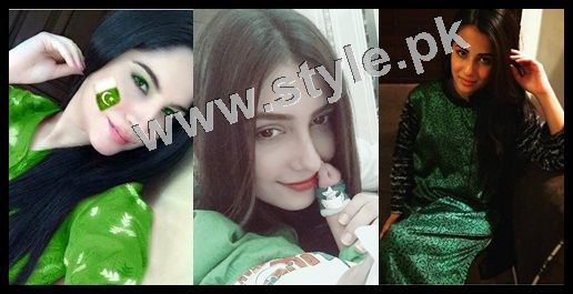 Pakistani Celebrities on Independence Day 2015 (9)