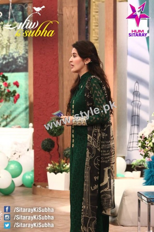 Shaista Lodhi's first appearance as a host after her arrest warrants (4)