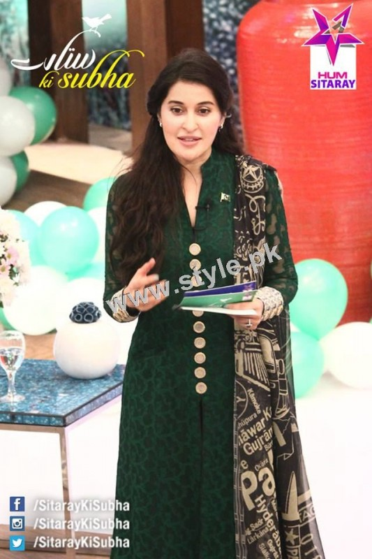 Shaista Lodhi's first appearance as a host after her arrest warrants (7)